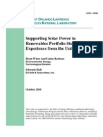 LBNL Supporting Solar in RPS