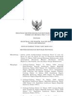 57571815 Peraturan Menteri Kesehatan Republik Indonesia Nomor 889 Menkes Per v 2011