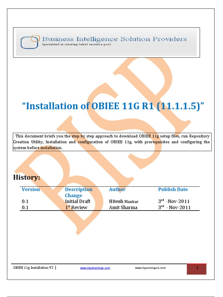 OBIEE Installation Guide v2 | Oracle Database | Ip Address