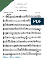 65Hans Sitt, 100 Violin Studies, Op. 32 Book 3 Studies in Changing Positions