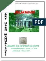 User Manual 2011
