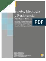 Zizek Sujeto, ideología y resistencia