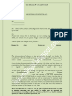 Format Notice of Cheque Dishonour