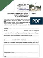 Autorizacion Al Puerto de La Ragua