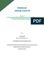 Program Kerja Penilik 2012