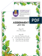 Assignment Acc106 Jan 2012