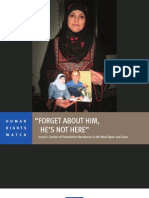 HRW Feb05-12 [Israel's Control of Palestinian Residency in the West and Gaza]
