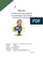 BUS 323C Case Analysis - The Last Rajah (Latest)