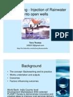 Backwashing-Feeding Rainwater Directly Into Openwells-Terry Thomas May 2011