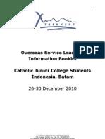Batam Information Booklet for CJC Students