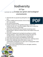 Go Green Week - Top Biodiversity Tips
