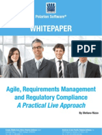 Agile Requirements Management and Regulatory Compliance a Practical Live Approach