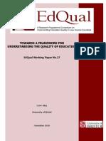 Edqualwp27towards a Framework For