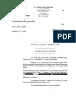 Arrêt relatif à l'irrecevabilité du fichier volés des évadés fiscaux