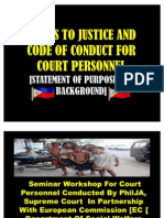 Access to Justice and Code of Conduct Statement of Purpose