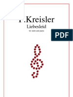 F. Kreisler Liebesleid Sheetmusic Trade Com