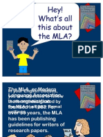 MLA and CARS Condensed