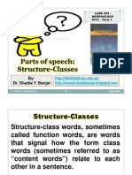 Parts of speech - Structure Classes, Dr. Shadia Yousef Banjar .pptx