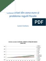 Cursul 13 ULC Evaluarea situației din zona euro pe baza costurilor unitare cu forța de muncă