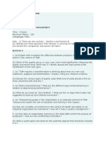 Total Quality Management Question Paper