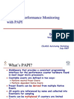 Hardware Performance Monitoring Hardware Performance Monitoring