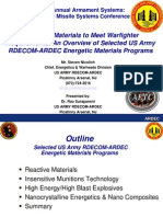 Steven Nicolich- Energetic Materials to Meet Warfighter Requirements