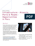 Infrastructure - Airports, Ports & Roads Sectors in Peru