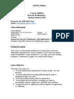 Course Syllabus Discrete Math Spring 12 2