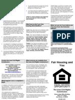 Fair Housing and You 052009
