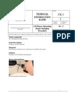 CK-CD Operating Panel Procedure