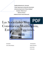 SOCIEDADES MERCANTILES (TRABAJO MONOGRÁFICO)