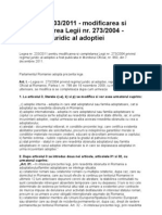 Legea Nr 233-2011=Modif Legea Adoptiei273-2004