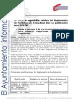 PART. CIUDADANA Publicación Reglamento BOCAM