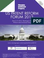 Brochure - US Patent Reform Forum 2012