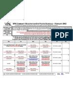BC VPK February Site Schedule