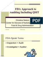 FDA Approach to Auditing