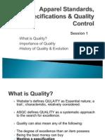 Apparel Quality Management Session