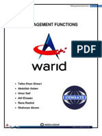 63013584 Warid Management Functions