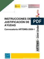 Instrucciones Justificacion ARTEMIS 2010 v1.1