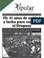El Popular Edicion Especial Aniversario Del Frente Amplio
