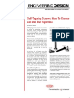 How to Choose Self Taping Screws