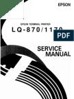 Epson LQ-870 LQ-1170 Service Manual