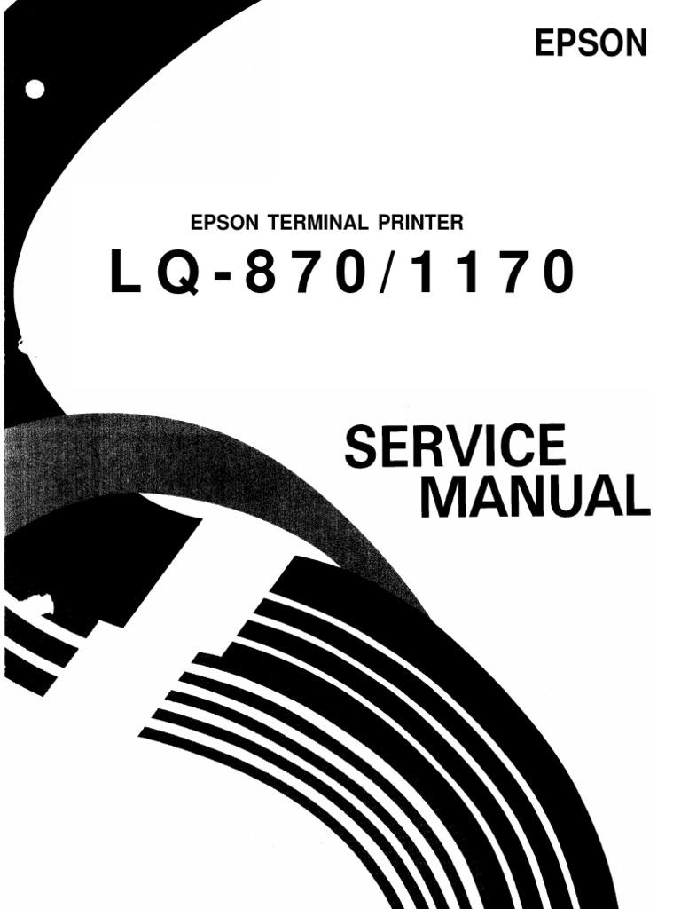 Service manual epson fx-1170 printer - download free service.