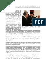 ARTIKEL HUBUNGAN INDONESIA -THAILAND SEMAKIN KUAT