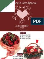 Alice Florist Melaka 2012 Valentine's Day Catalog