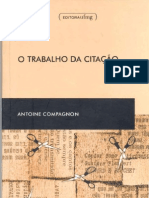 COMPAGNON Antoine- O trabalho da citação