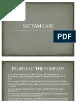 Satyam Case Ppt