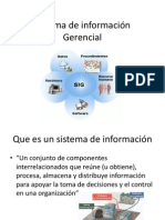 Sistema de información Gerencial clase 1