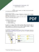 Guía instalación Informix 10 windows