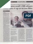 20120206 - El 9 Nou - En Cap Cap Cap. Diccionari de dites i refranys sobre el cap